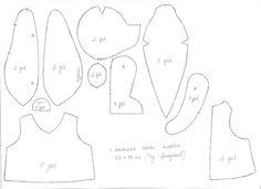 Simple teddy bear pattern by azaleapoena.deviantart.com on