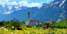 ....ODER VIELLEICHT NACH BAYERN...... Frühling in Pfronten....   I really like this photo of beautiful Germany!