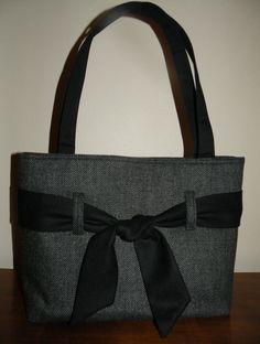 La main laine concepteur Tweed fourre-tout sac à main