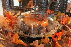 Cake Platter Used For Fall Decorating - traditional - spaces - seattle - Savvy Seasons