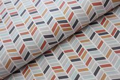 BAVLNĚNÁ PLÁTNA | ostatní vzory, mix | GEO kolekce - terakota - čárkovaný chevron | LÁTKY METRÁŽ | PATCHWORK | GALANTERIE