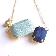 """""""布宝石ネックレス Fabric  Jewel Necklace - D"""" https://sumally.com/p/647254"""