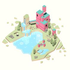 Lower poly than ever before! - Lost Island - model by kevin_pauly ( Low Poly Games, Unity Games, Digital Storytelling, Low Poly 3d, Environmental Design, Indie Games, Decoration, Game Design, Game Art