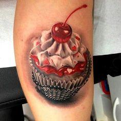 Unbelievable cupcake tattoo