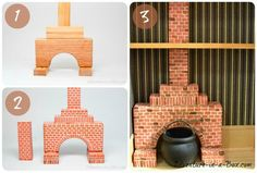 How to Make a Simple Fireplace for a Doll House How to Make a Fireplace for a Dollhouse: DIY tutorial on how to equip your Victorian manor or a forest hut with a simple miniature fireplace made of wooden blocks Cardboard Dollhouse, Haunted Dollhouse, Wooden Dollhouse, Diy Dollhouse, Dollhouse Miniatures, Victorian Dollhouse Furniture, Victorian Dolls, Victorian Manor, Simple Fireplace