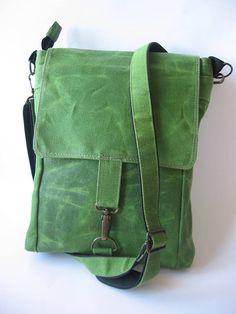 Waxed Canvas Bag Mens Crossbody Bag Waxed Canvas Purse