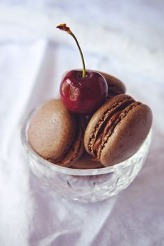 Chocolate Cherry Macarons | Creative Macarons
