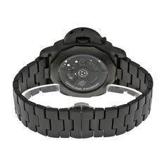 Panerai Luminor 1950 Tuttonero GMT Black Dial Black Ceramic Men's Watch PAM00438 - caseback and bracelet