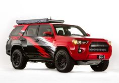 Toyota Brings Baja-Ready Tacoma, and Tundra Chase Trucks to SEMA - Photo Gallery of Auto Shows from Car and Driver - Car Images - Car and Driver 2015 Toyota 4runner, Toyota Tundra Trd Pro, Toyota 4runner Trd, Toyota Tacoma, Toyota Trucks, Toyota Cars, Toyota Usa, Ac Schnitzer, Tacoma Trd