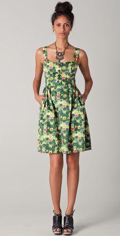 Milly Lourdes Print Tank Dress thestylecure.com