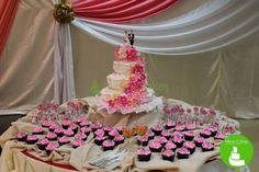 Get a stunning wedding cake or beautiful cupcakes for your special day. :) #nikoncakes #wedding #weddingcake #pink #cupcakes #pink