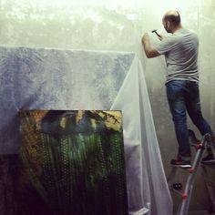 Work in progress! Allestimento mostra Mattia #Luparia per #FondazioneAriel. Da non perdere! #STRAFhotelbar, Milano