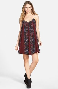 Socialite+Print+Trapeze+Dress+available+at+#Nordstrom