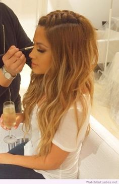 Center braid and loose waves