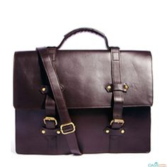 Look attractive with Rich Plum Leather Laptop Case With Front Belts from Oasis Leather.