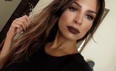 Kylie Jenner Brown Lips Makeup Look Recreated | Fall Inspo | The Black Sparkles Gal