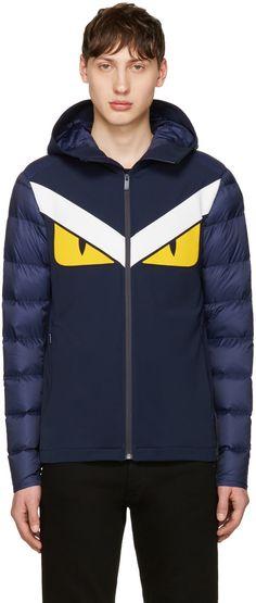 Fendi - Navy Transitional Bag Bugs Jacket