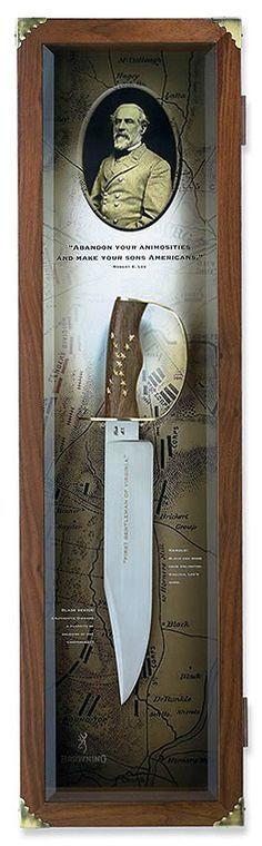 Robert E. Lee D-guard Bowie coltello, BR003 Nizza stuzzicadenti Arkansas!