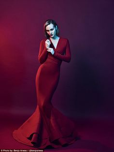 She's back: Leighton Meester has starred in a rare fashion spread for Rogue Magazine released on Wednesday