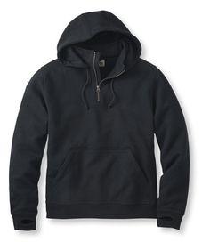 Katahdin Iron Works Sweatshirt, Quarter-Zip Hooded - L.L.Bean