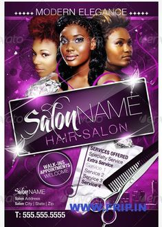 hair salon flyer templates free