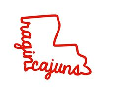 """New to FransEverythingShop on Etsy: ULL """"Ragin' Cajuns"""" Decal (6.00 USD)"""