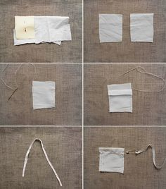 Make your own tea bags from recycled fabric to avoid plastic and waste + summer tea recipe | The Rogue Ginger