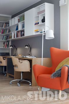 PRZYTULNY GABINET Loft, Corner Desk, House, Furniture, Studio, Home Decor, Wall, Stone, Projects