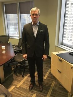 Dunlop Dave received his bespoke suit despite a horrible weather in Calgary. Bad weather is no excuse to look less gentleman!