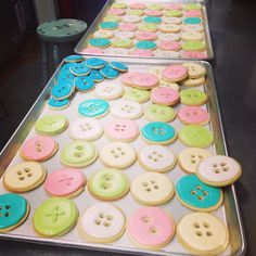 Cute As A Button Baby Shower Cookies - so adorable! Would make great baby shower favors!                                                                                                                                                      More