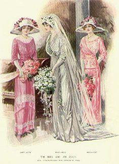 1912 style bridesmaid dresses | 1912wedding.jpg (71465 bytes) 20th century