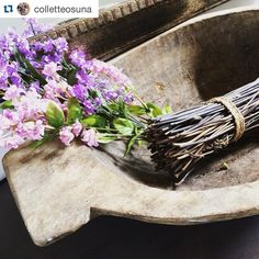 """#Repost @colletteosuna ・・・ I'm playing along with my sweet friend Lindsay @whimsygirldesign to show how we incorporate nature into our home for #whimsygirlweekend. I wrapped these twigs in twine & placed them in a doughbowl for an instant """"rustic"""" feel.  Sometimes less is more ❤️ ......and we have to add that this beautiful Turkish Dough Bowl is part of Collette's Summer Favorites Collection! Which means it is 25% off with code SPINDLEANDRYE!"""