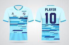 Sports Jersey Design, Soccer Uniforms, Shirt Template, Football, Soccer Players, Sport T Shirt, Shirt Designs, Blue Abstract, Shirts