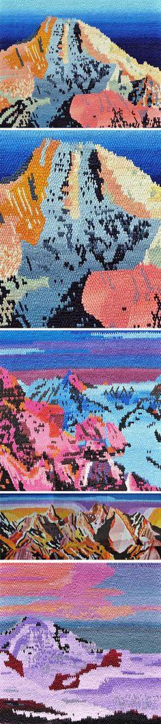 Oil Paintings That Look Like Woven Tapestries by Caroline Larsen #painting