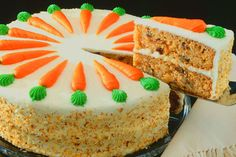 """""""Easter Carrot Cake..."""" A traditional Italian Easter Cake will awe your guests with its toasty meringue topping and rustic crumb. The classic Carrot Cake lusciously frosted in rich and silky cream cheese is perfect with an after-dinner coffee or tea. I L❤ve carrot cake..!!! I am definitely making this for Easter Sunday this year...."""