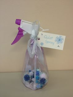 My version of Quiet Spray includes pom poms, glitter and sequins!
