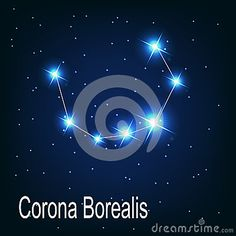 The constellation Corona Borealis star in the