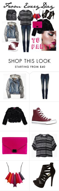 everyday to party - fashion by stylebycharlene on Polyvore featuring Apiece Apart, American Eagle Outfitters, Boohoo, 6397, Charlotte Russe, Pieces and Loeffler Randall