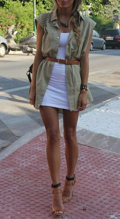 Great summer layering, love the belt cinch