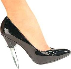 """@Emily Kent -- new meaning to """"I'll stab you with my heel"""""""