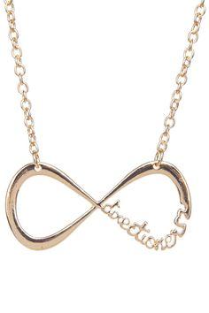 ROMWE | Engraved 8-shaped Pendant Necklace, The Latest Street Fashion #ROMWE