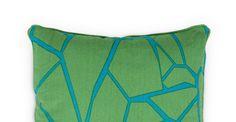 Verdon Cushion 45 x 45cm, Green and Blue Mix