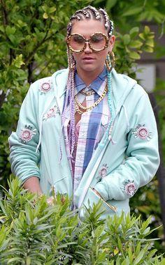 """Ke$ha debuts cornrows for """"Crazy Kids"""" music video!"""