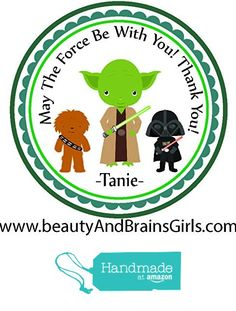 Custom Personalized Stickers Star Wars-Party Favors-Custom Personalized Birthday Stickers,Treat Tags Bag, 24 Stickers Popular Size 2.5 inches. from Custom Party Favors, Handmade Craft , and Educational Products https://www.amazon.com/dp/B01E60P1TO/ref=hnd_sw_r_pi_dp_ZGRGxbRV7N14C #handmadeatamazon