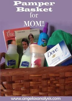 Pamper Basket for Mom, perfect gift for Mothers Day!