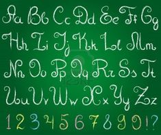 chalkboard font alphabet - Google Search