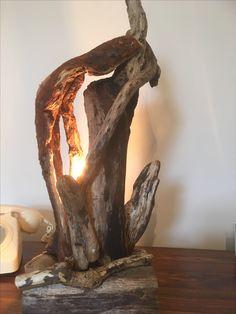 Wood Lamp Base, Wooden Floor Lamps, Wooden Lamp, Driftwood Lamp, Drift Wood, Vintage Lamps, Wood Art, Light Fixtures, Candle Holders