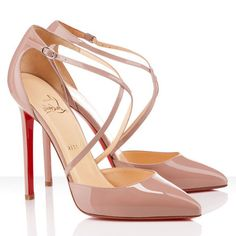 Hello new friends! Please carry me down the ails! Nude Pumps, High Heel Pumps, Pumps Heels, Stiletto Heels, Christian Louboutin Sandals, Beige Shoes, Beautiful Heels, Patent Leather Pumps, Sexy High Heels