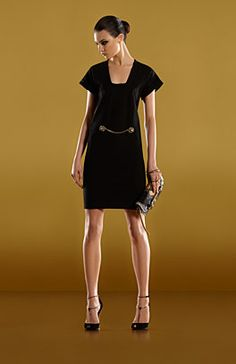 Nice simple dress.  Gucci - deep neck kimono dress