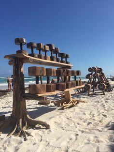 Tulum Jungle Gym Flintstone style gym on the beach | Mexico